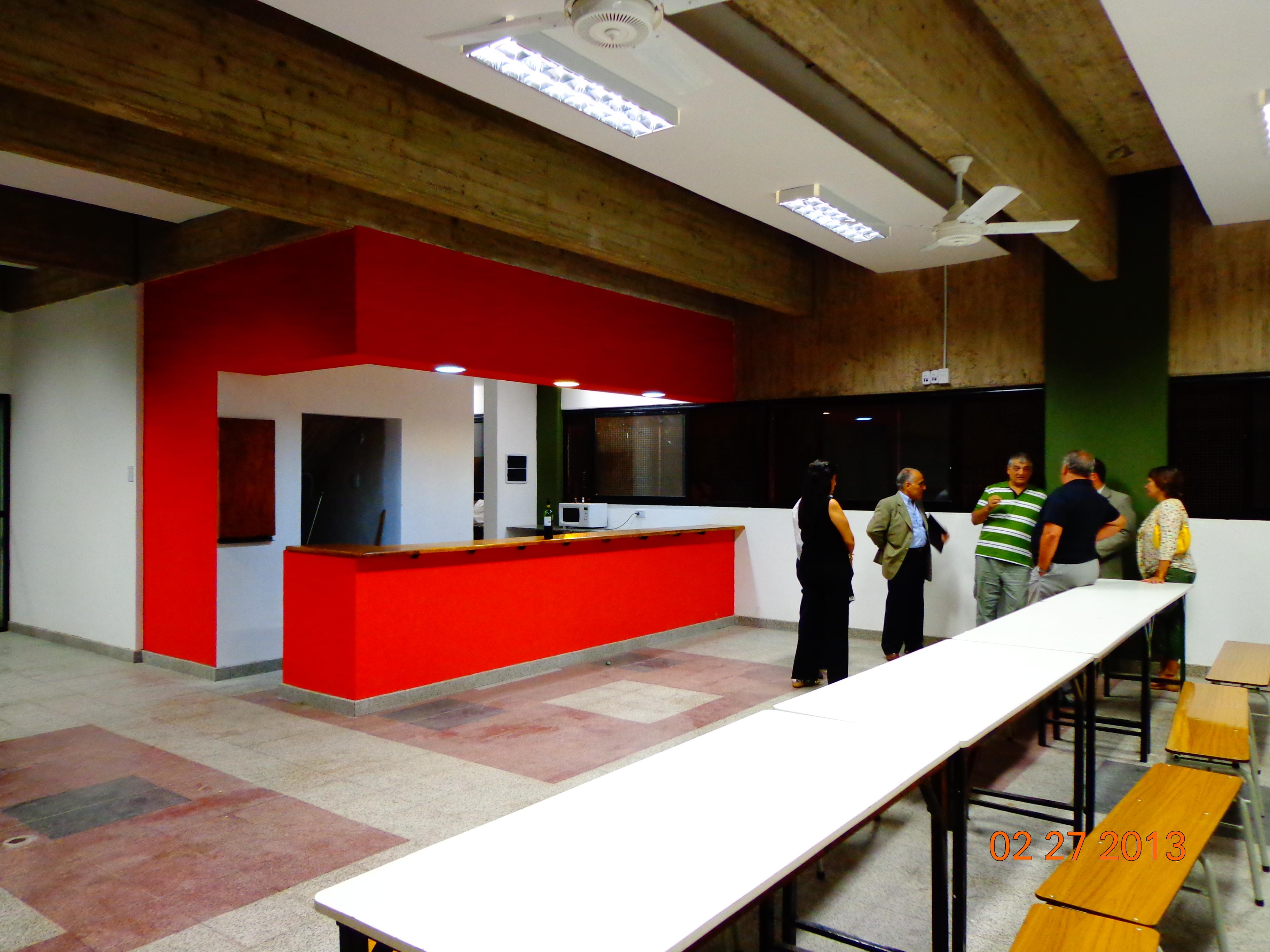 Obra terminada - Área de restaurante
