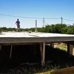 Construcción de la losa de piso (por ser zona inundable, fue requerimiento de proyecto)