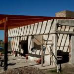 Colocación de estructura del techo.