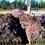 Inicio de los trabajos: excavación de cimientos.