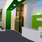 Diseño interior propuesto con mueble